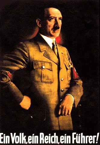 Affiche de 1938 (artiste inconnu) reprenant le slogan des nazis