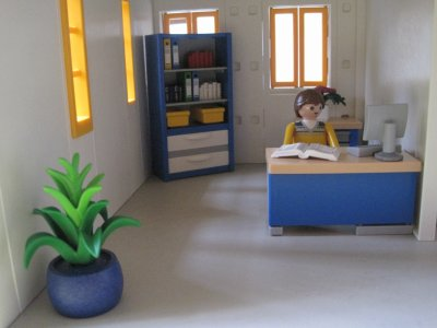 bureau du directeur playmobil en force. Black Bedroom Furniture Sets. Home Design Ideas